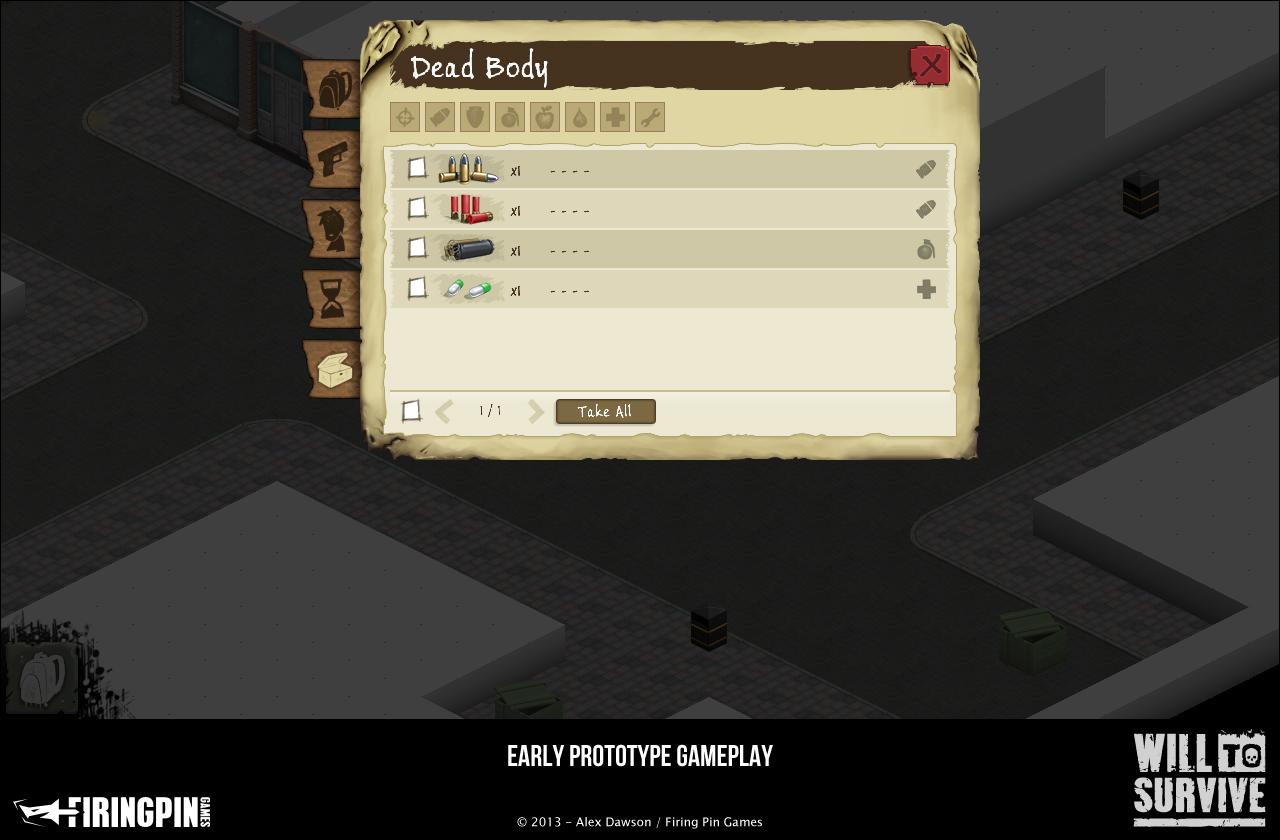 Prototype Inventory Screen